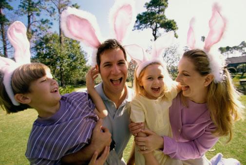 Páscoa feliz em família
