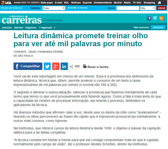 Methodus é Destaque na Folha de S. Paulo